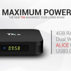 Tv Box PC TX6 -4K-3D,Quade-Core,4gb,32gb,Dual Band WiFi,Bluetooth,Android7.1,Noi