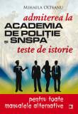Teste de istorie pentru admiterea la Academia de Politie si SNSPA, Mihaela Olteanu