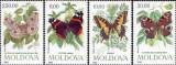 MOLDOVA 1993, Fluturi, serie neuzată, MNH, Fauna, Nestampilat