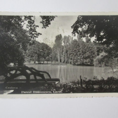 Carte postala foto Cenzurat Craiova 1943-Parcul Romanescu