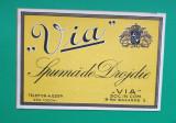 Eticheta veche perioada regala anii 1930  SPUMA DE DROJDIE VIA Piesa de colectie
