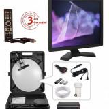 Set/Kit complet antena, televizor 12volti receptor focus pentru camion, portabil