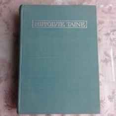 HYPPOLITE TAINE, PAGINI DE CRITICA