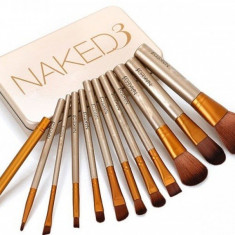 Set 12 pensule profesionale machiaj Naked 3 Urban Decay