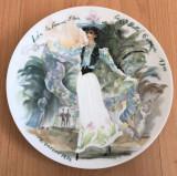 Farfurie - Limoges - Les Femme du Siecle - Lea - 1976 - certificat