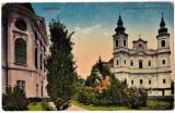 CP circ.1916 Oradea Palatul Episcopal Nagyvarad Szekesegyhaz es puspoki palota, Circulata, Printata