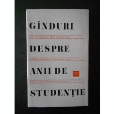 CONSTANTIN DAICOVICIU - GANDURI DESPRE ANII DE STUDENTIE