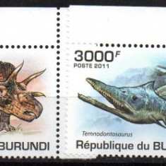 BURUNDI 2011, Fauna - Animale preistorice, Dinozauri, MNH