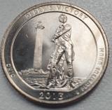 Monedă 25 cents / quarter 2013 USA , Ohio,  Perry's Victory, unc, litera P, America de Nord