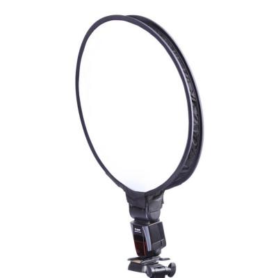 Mini softbox circular 40cm pentru blitz speedlite foto