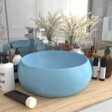 VidaXL Chiuvetă baie lux albastru deschis mat 40x15 cm ceramică rotund
