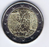 Moneda 2 euro comemorativa FRANTA 2019_zid Berlin, UNC, Europa, Cupru-Nichel