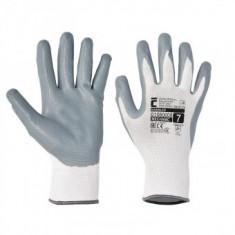 Mănuși de protecție fără cusături Cerva Babbler White, cu strat de latex, marimea 10