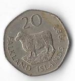 Moneda 20 pence 1982 - Falkland, Europa
