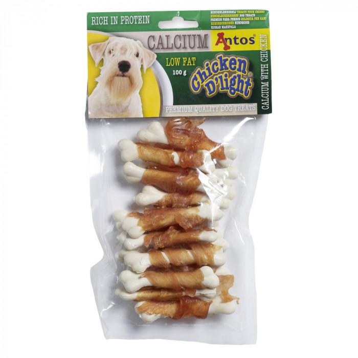 Recompense pentru caini Antos, Chicken D light Calcium, Pui, 100 g