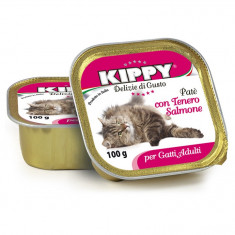 Pate Kippy cat, cu somon, 100g
