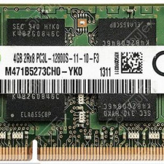 Memorie ram laptop Sodimm SAMSUNG 4Gb DDR3 1600Mhz PC3L-12800S 1.35V, 4 GB, 1600 mhz