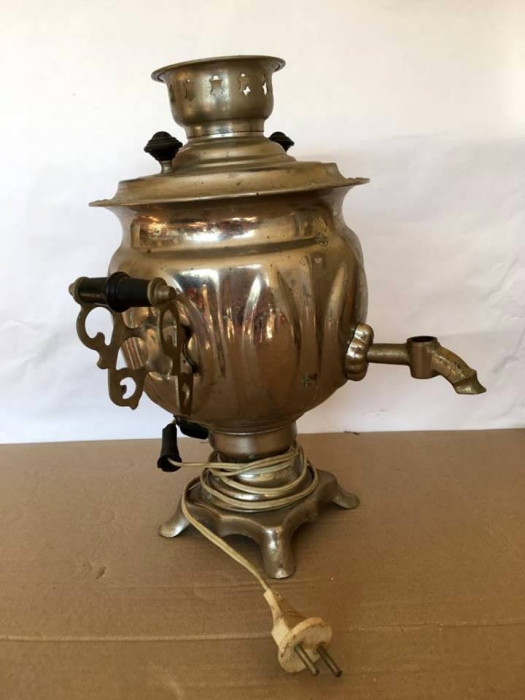 Samovar vechi rusesc, vintage, decor, electric, 36 cm inaltime