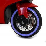 Motocicleta electrica cu scaun de piele si lumini LED Napoleon Red, Moni