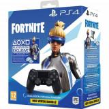 Controller wireless SONY PlayStation DualShock 4 V2, Jet Black Fortnite Neo Versa Bundle