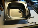 Chiuveta bucatarie cu baterie si furtune
