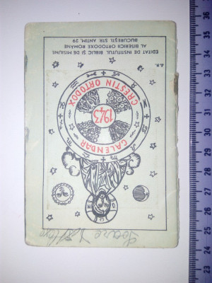 CALENDAR CRESTIN ORTODOX 1943 foto