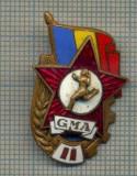 "Y 824 INSIGNA - ,,GMA"" -GATA PENTRU MUNCA SI APARARE -PENTRU COLECTIONARI"