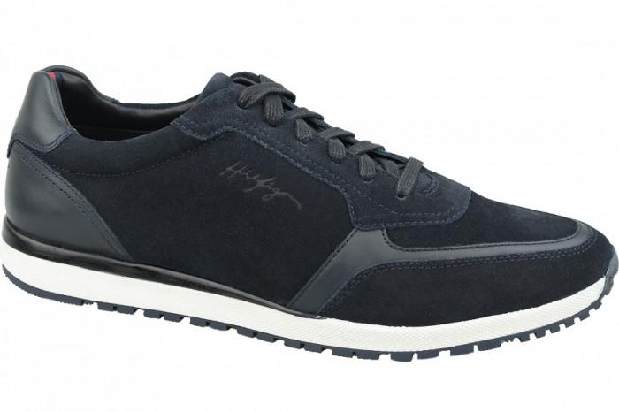 Pantofi sport Tommy Hilfiger Premium Suede Runner FM0FM02551-CKI pentru Barbati
