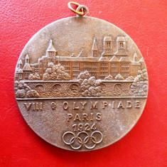 Placheta    comemorativa   olimpica Paris   1924