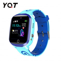 Ceas Smartwatch Pentru Copii YQT Q13 cu Functie Telefon, Localizare GPS, Istoric traseu, Apel de Monitorizare, Camera, SOS, Joc Matematic, Albastru, C