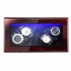 Cutie pentru intors ceasuri automatice iUni, Watch Winder 4 Mahon-Negru