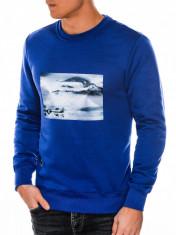 Bluza barbati B983-albastru foto