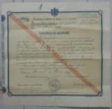 Certificat de absolvire Scoala Secundara de Fete gradul II/ Bucuresti 1916