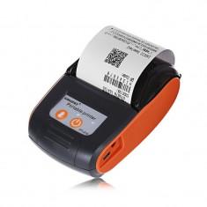 Imprimanta termica portabila Bluetooth, 58 mm, Windows, Android, iOS, USB