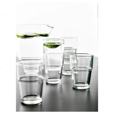 Set 6 pahare sticla transparenta