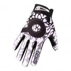 Manusi protectie rezistente la vant, termice, touchscreen, model AD1, marime XL, culoare negru cu alb