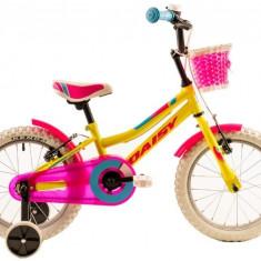 Bicicleta Copii DHS 1604 Galben 16
