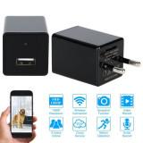 Alimentator Camera Ascunsa Wi-Fi 3 in 1 Video/Foto/Detectie Miscare Full HD -100