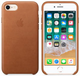 Protectie Spate Apple Leather Case Saddle Brown MQH72ZM/A pentru iPhone 8 / iPhone 7 (Maro)