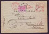 1947 Romania, CP francatura mecanica publicitara Banca Nationala a Romaniei, BNR