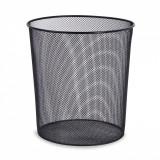 Cos de gunoi din metal pentru birou, 13 lt, negru