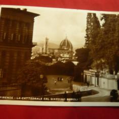 Ilustrata Florenta francata cu 75C ,reclama pt.reducere pe Calea Ferata 1937 ,ti