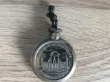 Sticluta metalica de parfum veche belgiana,souvenir Maneken Brussel
