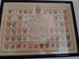 Tablou blason des pays france, 45 x 60 cm