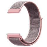 Curea material textil, compatibila cu Huawei Watch GT, Telescoape QR, 22mm, Light Pink
