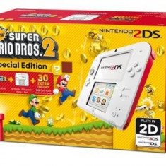Consola Nintendo 2DS Special Edition alb / rosu + joc New Super Mario Bros 2