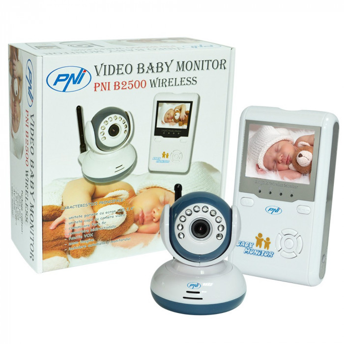 Resigilat : Video Baby Monitor PNI B2500 ecran 2.4 inch wireless