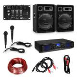 """Cumpara ieftin Electronic-Star Set pentru petreceri HiFi DJ PA, amplificator, boxe 2 x 12 """", mixer, 2 microfoane"""