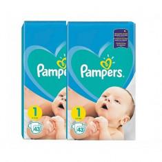 Pachet 2 x Pampers New Born - nr.1, 43 buc