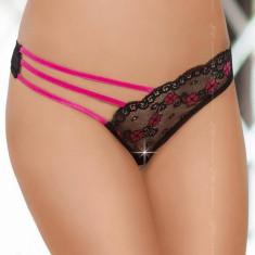 Bikini Asimetric Softline String - Negru